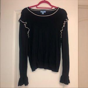 Ruffle navy sweater